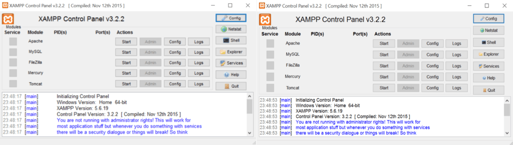 xampp_windows10_difference
